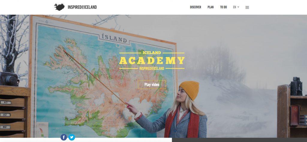 Visuel d'Iceland Academy; la nouvelle campagne de promotion qui permet de gagner des séjours.